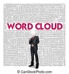 concept, mot, business, nuage