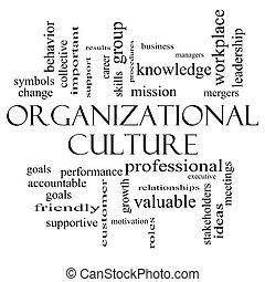 concept, mot, culture, noir, organisationnel, nuage blanc
