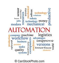 concept, mot, nuage, automation