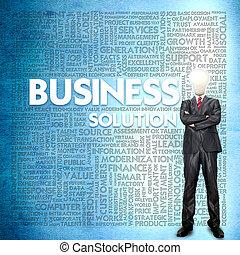 concept, mot, nuage, business