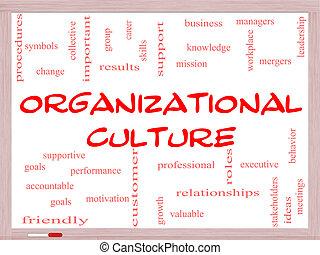 concept, mot, whiteboard, culture, organisationnel, nuage