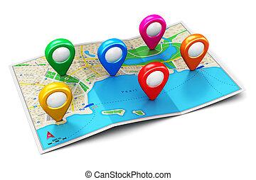concept, navigation, gps