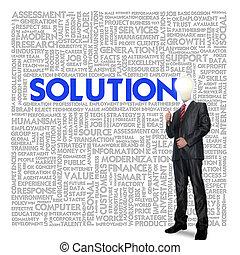 concept, nuage, mot, solution, business