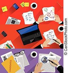 concept, personnel, business, recherche, recrutement, planification, analyser, humain, proces, professionnel, gestion, ressources