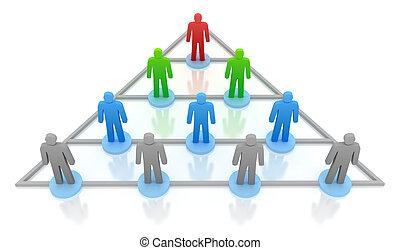 concept, pyramide, business, hierarchy.