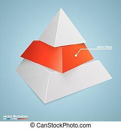 concept, pyramide, fond, business, icône