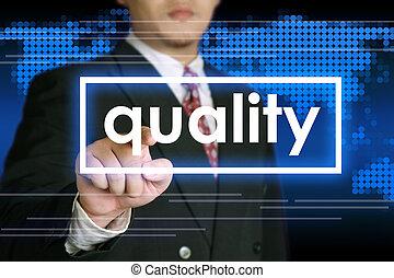 concept, qualité, business