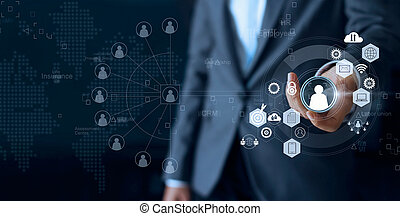 concept, réseau, equipe affaires, communication., personne, crm., direction, choisir, humain, social, employé, représenté, éditorial, ressources