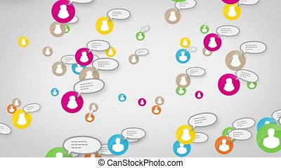 concept, réseau, média, social, skype, boucle