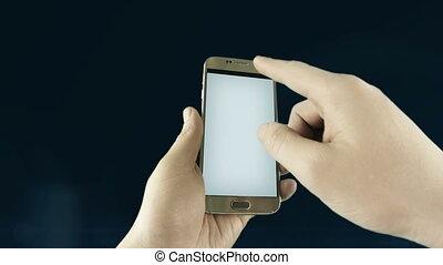 concept, réseau, mobile, média, arrière-plan., noir, social, visualisation, plan, devices., spectacles