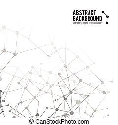concept, réseau, résumé, -, illustration, 002, vecteur, relier, fond