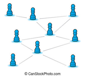 concept, réseau, social
