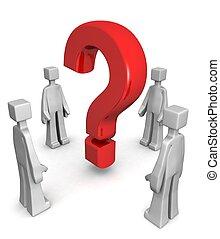 concept, résoudre, conclusion, réponse, problème, ou