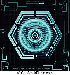 concept, résumé, illustration, arrière-plan., vecteur, avenir, technologie