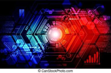 concept, résumé, illustration, arrière-plan., vecteur, technologie