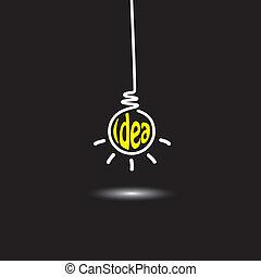 concept, résumé, pendre, idée, inventif, innovateur, résoudre, génie, -, esprit créatif, noir, intelligent, pensée, fond, ampoule, icon., représente, graphique, ceci, lumière, aussi, pensée, vecteur, problème