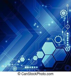 concept, résumé, vecteur, fond, technologie numérique