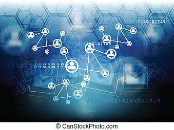 concept, relier, fond, équipe