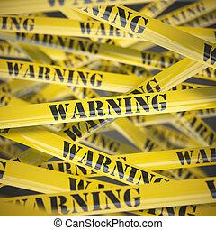 concept., sécurité, avertissement, bande, prudence, jaune, arrière-plan.