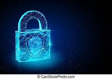 concept, sécurité, protection