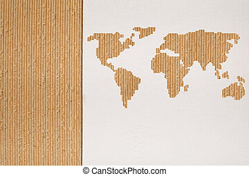 concept, série, global, -, expédition, fond, carton