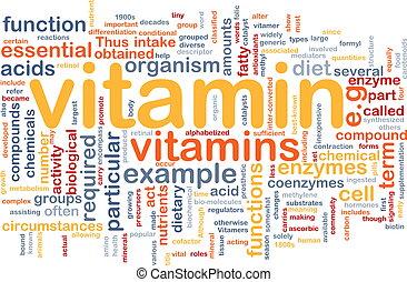 concept, santé, vitamines, fond