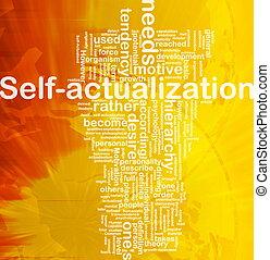 concept, self-actualization, fond