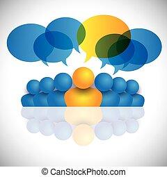 concept, staff., bureau, &, ou, directeur, direction, éditorial