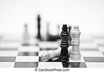 concept, stratégie commerciale, application, jeu, échecs