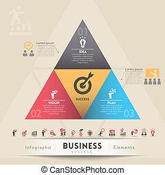 concept, stratégie, graphique, business, élément