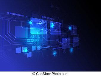concept, technologie, fond, numérique