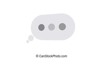 concept, texte, matte., animation, alpha, message