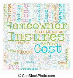 concept, texte, propriétaires, wordcloud, fond, assurance