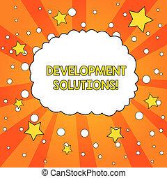 concept, tonalité, texte, planification, vide, nuage, besoins, basé, efficace, écriture, circles., parole, étoiles, orange, bulle, développement, business, compagnie, fond, mot, sunburst, solutions.