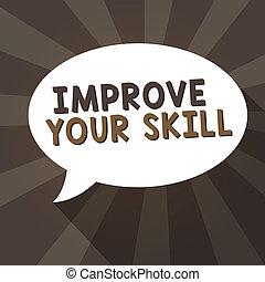 concept, très, texte, potentials, signification, écriture, maîtrise, ouvrir, bon, skill., excellent, écriture, ton, améliorer