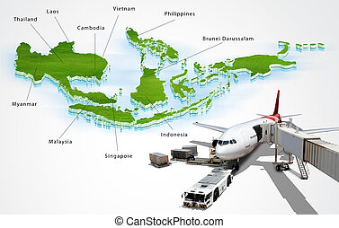 concept, transport, asean, air