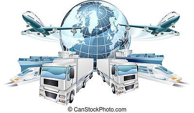 concept, transport, logistique