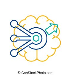 concept, trouver, problème, icône, simple, solution, résoudre