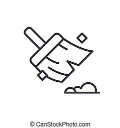 concept., vecteur, noir, symbole, plat, icône, propreté, signe, maintenir, illustration.