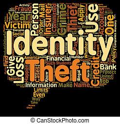 concept, vol, texte, wordcloud, fond, assurance, identité