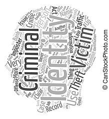 concept, vol, texte, wordcloud, fond, criminel, identité