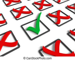 concept, voting/survey