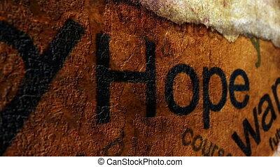 concept, vouloir, espoir