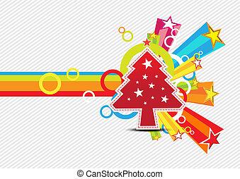 conception, étoile, noël, fond, célébration
