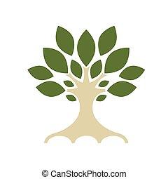 conception, art, arbre, ton
