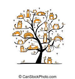 conception, ?at, arbre, ton, famille