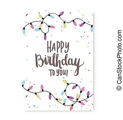 conception, bannière, célébration, anniversaire