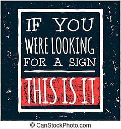 conception, ceci, moderne, il, illustration, signe, regarder, vecteur, hipster, locution, vous, si