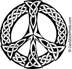 conception, celtique, paix, -, symbole