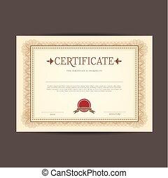 conception, certificat, fond